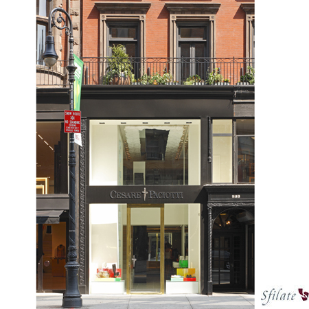 La boutique Cesare Paciotti in Madison Avenue a New York