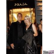 athlete Roman Sebrle with his wife Eva - per Prada opening a Praga