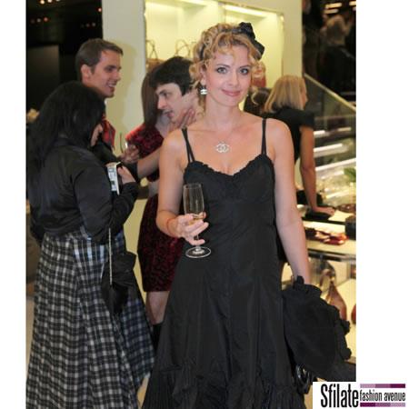 Marianna Durianova, Slovak actress - per Prada opening a Praga