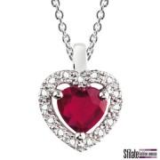 bliss: collier in oro bianco con rubino a forma di cuore. Prezzo al pubblico 645,00 euro.