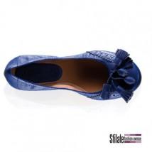 Le nuove ballerine a sacchetto di Moreschi in nappa - color blu