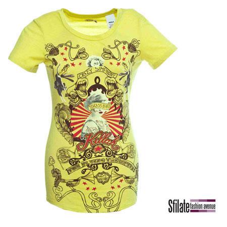T-shirt gialla Killah, collezione pop primavera-estate 2010