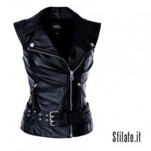 Giubbotto pelle nera Miss Sixty collezione donna Autunno/Inverno 2010