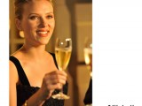 Scarlett Johansson celebrates at the Moet & Chandon 'Tribute to Heritage' event in Epernay