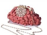 paola graglia - borsa diamante corallo