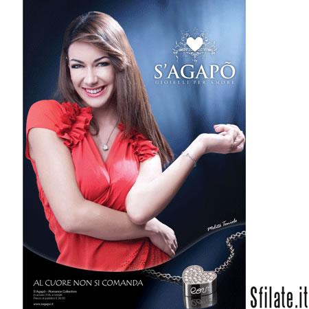 """La """"Diavolita"""" Melita Toniolo, ex concorrente del Grande Fratello, testimonial del marchio S'Agapò di Bros Manifatture"""