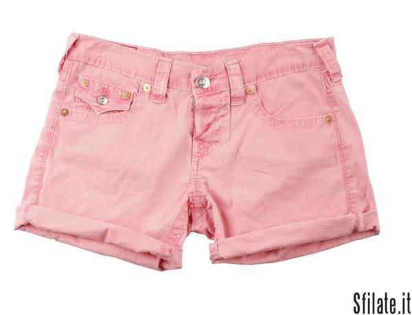 True Religion - shorts rosa - 160,00