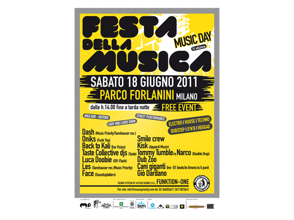 Grande attesa a Milano per la Giornata Europea della Musica che vedrà il Parco Forlanini animarsi di musica house e tecno fino a notte fonda.