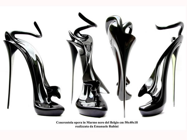 "CINDERELLA'S ELEGANCE SHOE AND SEX-SYMBOL SCULPTURE "" CENERENTOLA "" by Emanuele Rubini"