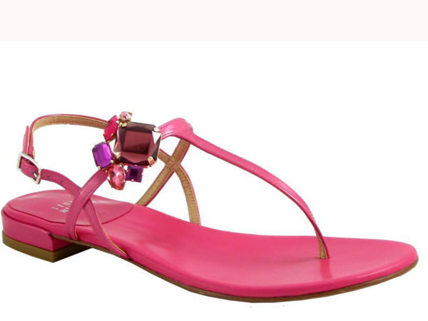 Colori forti per i nuovi sandali gioiello di Stuart Weitzman.