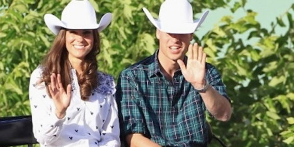 Will & Kate giocano a fare i Cowboy