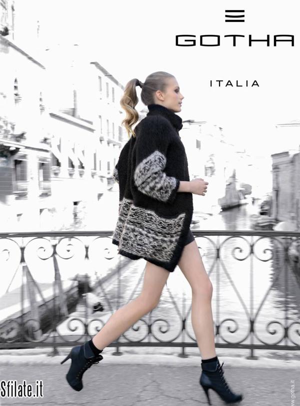 L'atmosfera senza tempo di Venezia racconta la duplice anima della donna Gotha nella campagna AI 2011-2012 Protagonista la top model croata Valentina Duric.