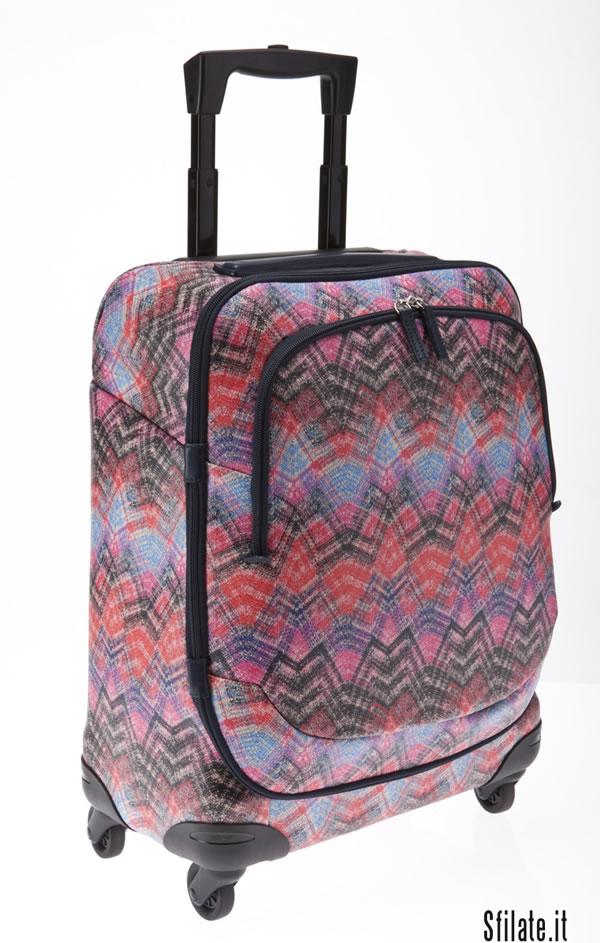 Le valigie di Bric's sposano i colori di Missoni