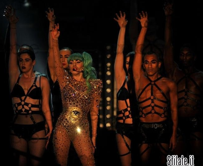 Lady Gaga Performs in Versace at MonsterBall in Sydney