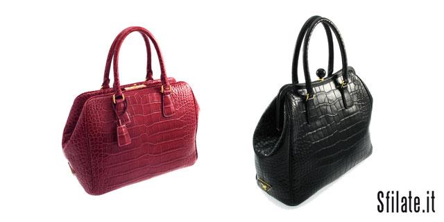 """Le nuove borse in coccodrillo """"Limited Edition"""" by Prada"""