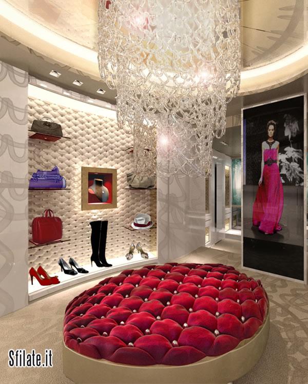 La boutique Amaranto all'interno del Carlton Hotel Baglioni di Milano