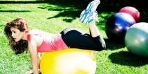 Eva Mendes si allena con Reebok