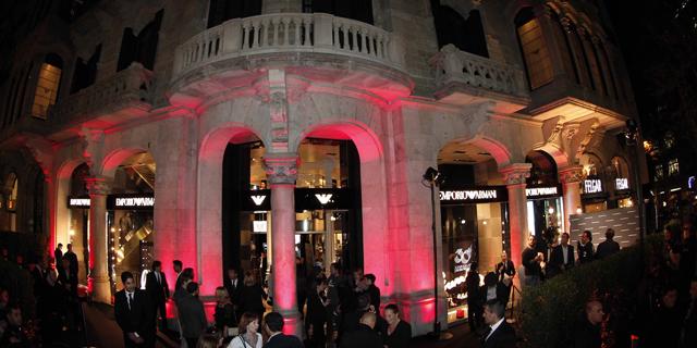 Grande festa per Emporio Armani a Barcellona