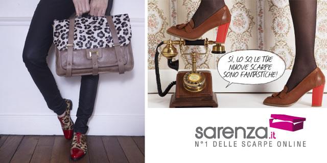 Le scarpe e le borse si comprano online con Sarenza