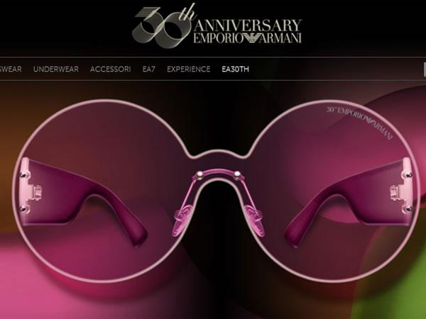 30 candeline per gli occhiali da sole di Emporio Armani