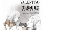 T-shirt firmate Valentino a sostegno della Stiller Foundation