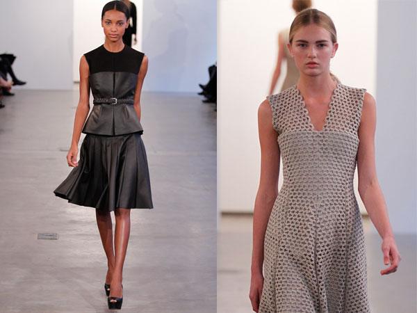 La linea donna pre-fall di Calvin Klein sfila a New York