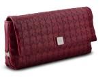Serapian pochette Mosaico in nappa e capretto rosso 480 euro