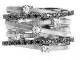 Anello Marco Bicego collezione Goa in oro bianco e diamanti bianchi e neri 2000 euro