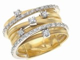 Anello Marco Bicego collezione Goa in oro giallo e diamanti bianchi 2960 euro