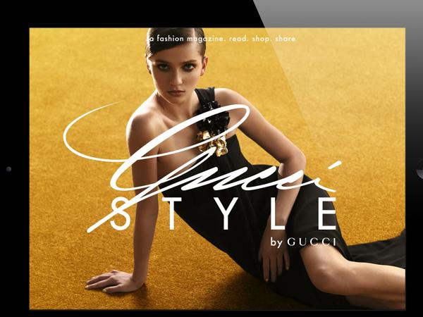 Lo stile Gucci a portata di iPad e iPhone