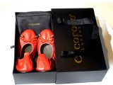 Le ballerine prêt à porter Cocorose London si colorano di rosso per Natale