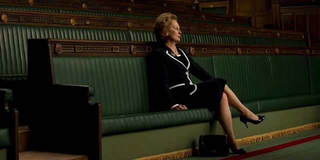 "Meryl Streep indossa accessori griffati Salvatore Ferragamo nel film ""The Iron Lady"""