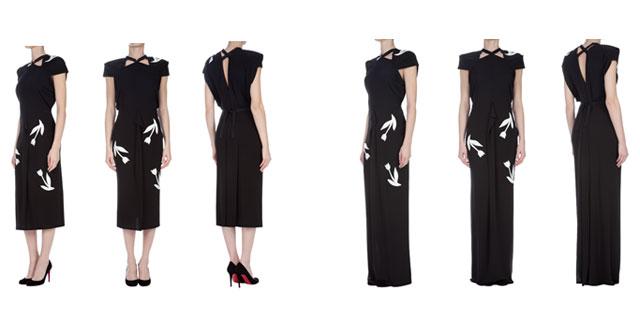 Roland Mouret :un vestito in 3 modelli unici