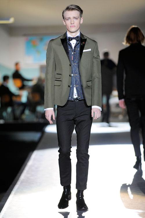 A scuola con dsquared2 sfilata milano moda uomo for Scuola superiore moda milano