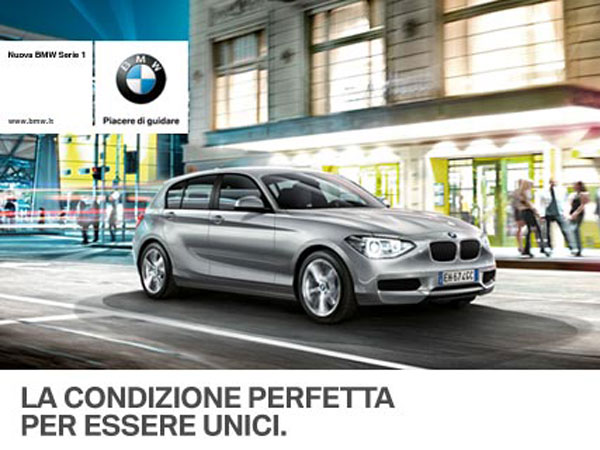 ESSERE UNICI: NUOVA BMW SERIE 1 DYNAMIC LIMITED EDITION