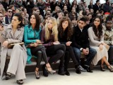 Giorgia Surina, Ebru Salli, Gabriella Wilde, Rae Morris, Amir Khan, Sonam Kapoor and Will.I.Am wearing Burberry at the Burberry Prorsum Autumn Winter 2012 Womenswear Show