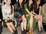 Girls Generation at the Burberry Prorsum Autumn Winter 2012 Womenswear Show