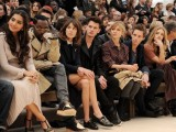Sonam Kapoor, Will.i.am, Alexa Chung, Jeremy Irvine, Clemence Posey, Eddie Redmayne, Rosie Huntington-Whiteley and Mario Testino at the Burberry Prorsum Autumn Winter 2012 Womenswear Sho
