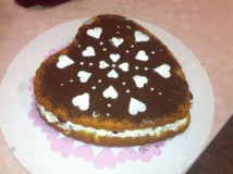 La torta di San Valentino firmata da Benedetta Parodi