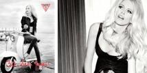 Claudia Schiffer testimonial della nuova campagna pubblicitaria di Guess