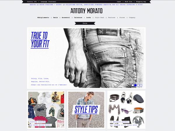 Antony Morato pubblica lo store online