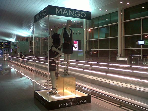 Mango al Terminal 1 dell'aeroporto di Barcellona