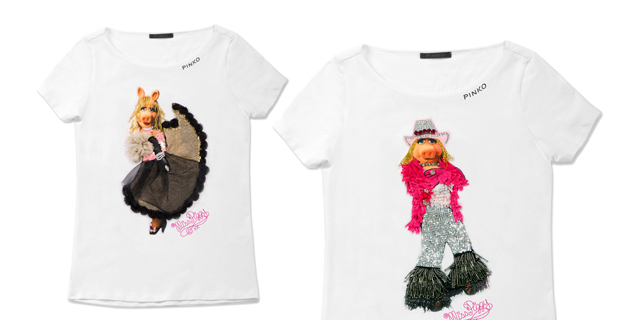 T-shirt-Pinko-&-Piggy dei Muppets