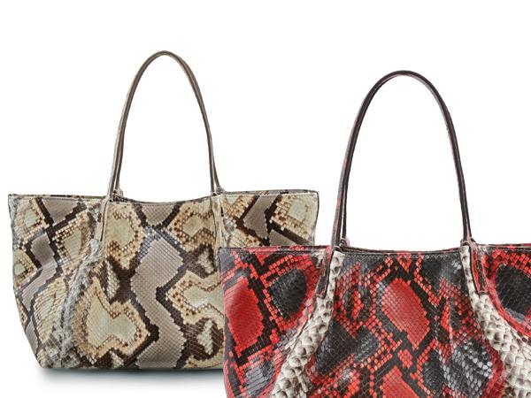 Shopping Bag Serapian in Pitone Indio. Prezzo 880 euro.