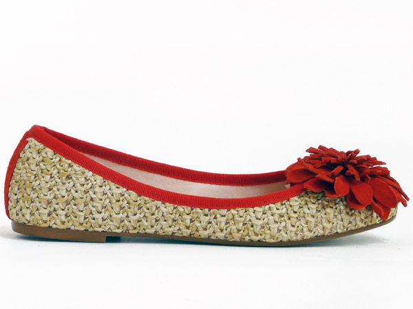 POPS: Natural Ballet Flats Shoes