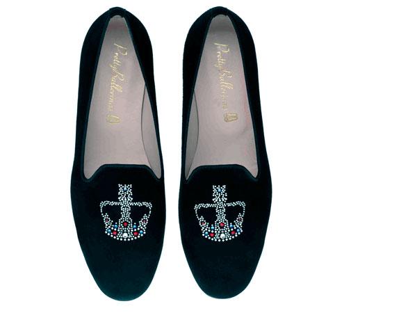 pantofola in camoscio nero