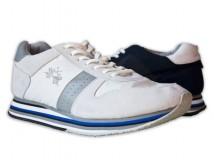 Per La Martina, invece, è una sneaker realizzata in camoscio e tessuto che la rendono morbida e leggera