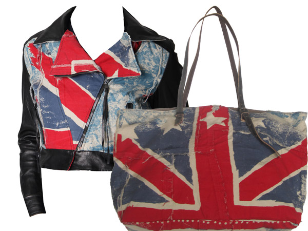Pois - Chiodo in pelle - Union Jack