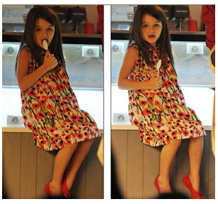 SURI CRUISE IN MILLY MINI