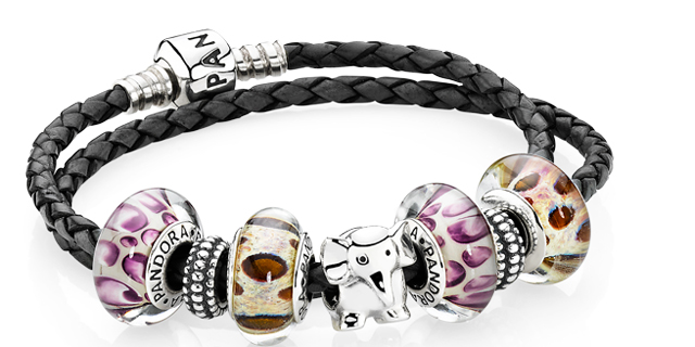 "Pandora lancia la linea viaggio ""explore the world"" con le murrine in vetro animalier"